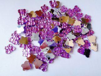100 x 10mm x 8mm Acrylic Butterflies Lilac