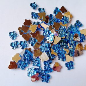 100 x 10mm x 8mm Acrylic Butterflies Blue