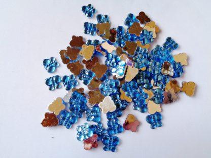 100 x 10mm x 8mm Acrylic Butterflies Blue