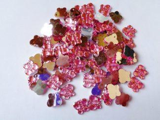 100 x 10mm x 8mm Acrylic Butterflies Pink