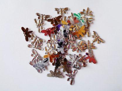 50 x 20mm x 12mm Acrylic Dragonflies Silver