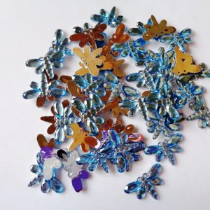 50 x 20mm x 12mm Acrylic Dragonflies Blue