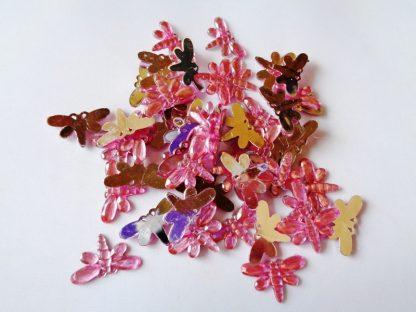50 x 20mm x 12mm Acrylic Dragonflies Pink