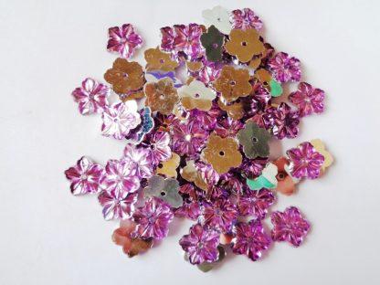 75 x 12mm Acrylic Petal Flowers Lilac