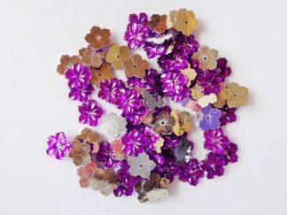 75 x 12mm Acrylic Petal Flowers Purple