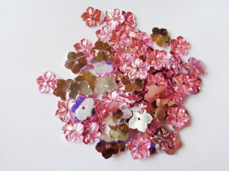 75 x 12mm Acrylic Petal Flowers Pink