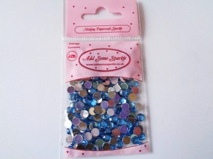5mm Acrylic Gems Sapphire (approx 200) Pale Blue