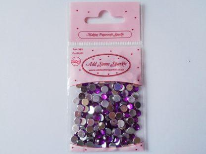 5mm Acrylic Gems Purple (approx 200)