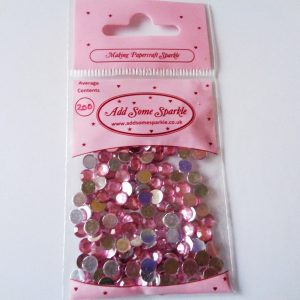 5mm Acrylic Gems Pink (approx 200)