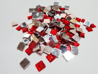 150 x 6mm Acrylic Squares Red