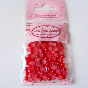 5mm Half Pearls Red (approx 150)