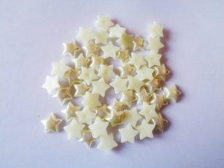50 x 10mm Pearl Stars Ivory