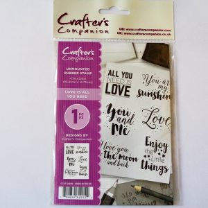 Love is all you Need A6 Unmounted Rubber Stamp