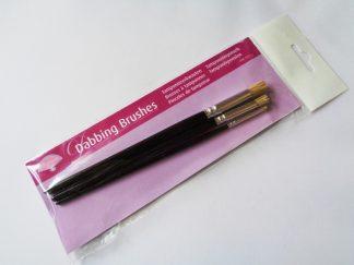 Pack of 3 Pergamano Dabbing Stencil Brushes