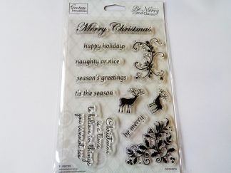 Couture Creations Be Merry And Classic 4 x 6 Inch Stamp Set 11 Stamps