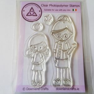 A6 Clear Photopolymer School Girl Stamp Set