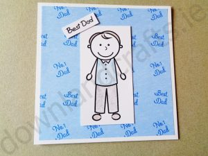Best Dad Handmade Greeting Card Project