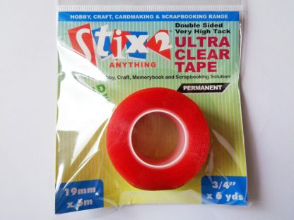 Double Sided Very High Tack Ultra Clear Tape 19mm x 5m