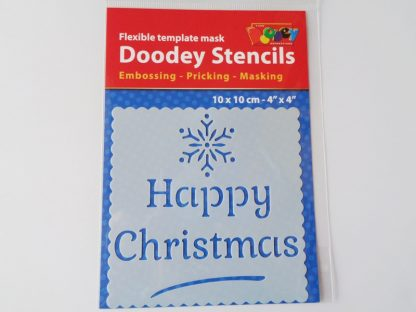 Happy Christmas Stencil 10 cm x 10 cm