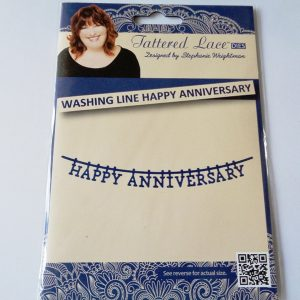 Tattered Lace Die Washing Line Happy Anniversary 13.3cm x 2.2cm