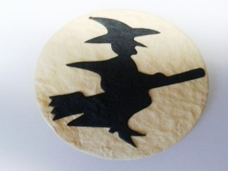 Pack of 5 x Moon Witch Die Cut Toppers (65mm x 65mm)
