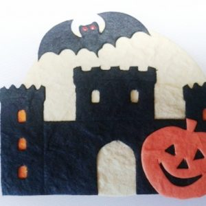 Pack of 3 x Spooky Castle Die Cut Toppers (75mm x 75mm)