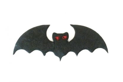 Pack of 10 x Vampire Bat Die Cut Toppers (40mm x 15mm)