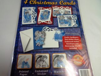 Angel Blue Christmas Card Kit (Makes 4)