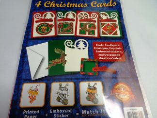 Christmas Blue Card Kit (Makes 4)