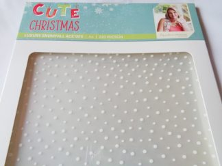 Cute Christmas A4 Luxury Snowfall Acetate