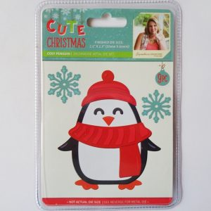 Cute Christmas Metal Die Cosy Penguin