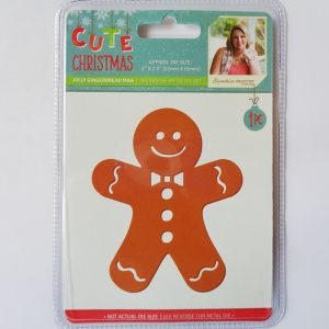 Cute Christmas Metal Die Jolly Gingerbread Man