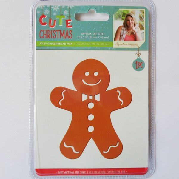 Cute Christmas Metal Die Jolly Gingerbread Man