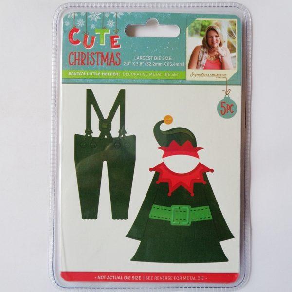 Cute Christmas Metal Die Santa's Little Helper