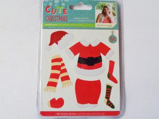 Cute Christmas Metal Die Santa's Suit