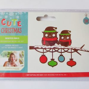 Cute Christmas Metal Die Winter Owls