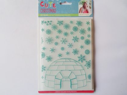"Cute Christmas 5"" x 7"" Embossing Folder Icy Igloo"