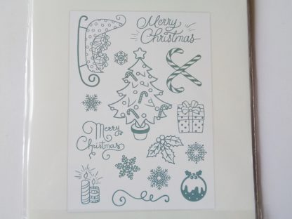 Cute Christmas A6 Photopolymer Stamp Set Decorative Elements
