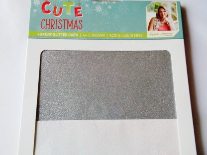 Cute Christmas A4 Luxury Glitter Card