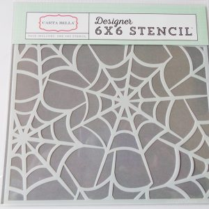 Carta Bella Spider Webs 6 inch x 6 Inch Making Stencil