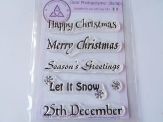 Christmas Greetings A6 Clear Photopolymer Stamp Set