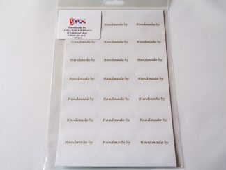 Handmade by' Labels (21 labels per sheet/5 sheets per pack)