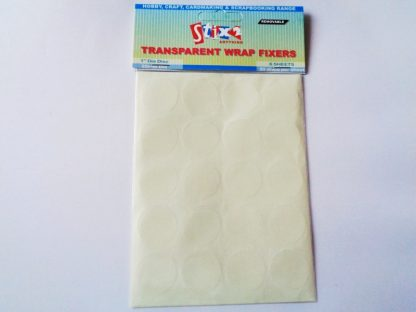 "1"" (25mm) Transparent Wrap Fixers (Bag Seals) 6 Sheets 20 Discs Per Sheet)"