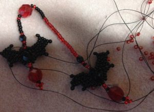 Beaded Bats Necklace