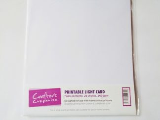 Printable Light Card A4 White 25 sheets 160gsm