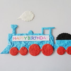 Pack of 5 Choochoo Train With Steam Die Cut Toppers