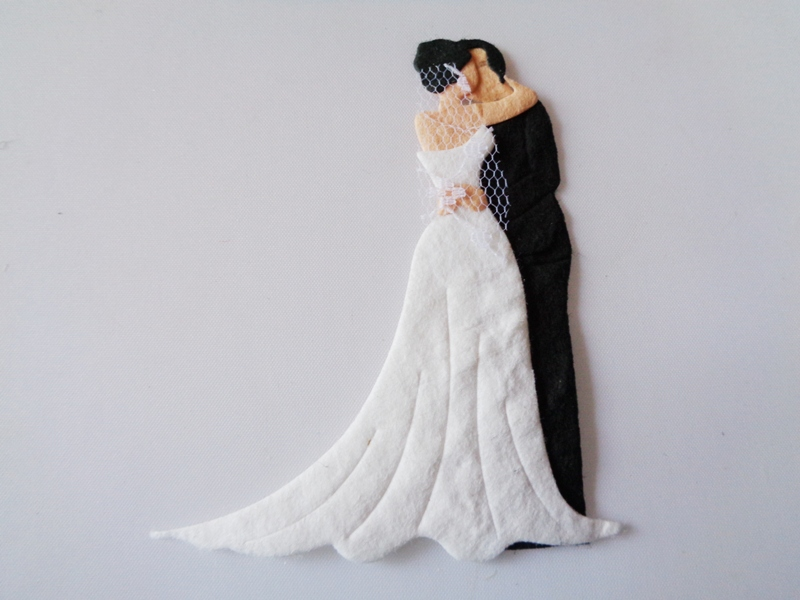Pack of 5 The Happy Couple With Dark Hair Die Cut Toppers ...