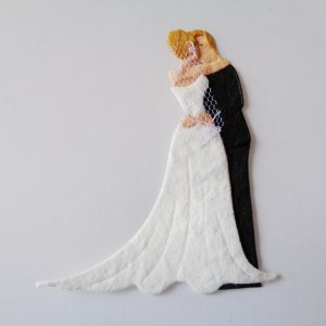 Pack of 5 The Happy Couple With Fair Hair Die Cut Toppers