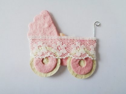 Pack of 5 Pink Pram Die Cut Toppers
