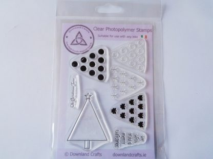 A6 Clear Photopolymer Oh Christmas Tree Stamp Set
